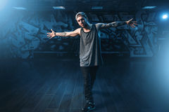 Male rapper in dance studio, trendy lifestyle Stock Photography