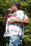 Male Rapper Performs At Atlanta Hip Hop Day Stock Image