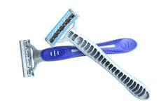 Male razor. Isolated on white background Stock Images