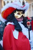 Male red mask, Venice, Italy, Europe Royalty Free Stock Photo