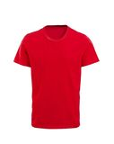 Male red t-shirt isolated on white. Background Royalty Free Stock Image