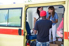 Male Refugee requesting medical assistance in Tovarnik. TOVARNIK, CROATIA - SEPTEMBER 19: Refugee requesting medical assistance on September 19, 2015 in Tovarnik Royalty Free Stock Photos