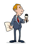 Male reporter Stock Images