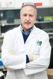 Male researcher in a laboratory. Male Scientist in a laboratory Stock Photo
