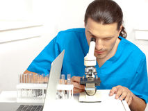 Male researcher Stock Photos