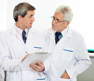 Male Researchers Discussing. In laboratory Stock Photos