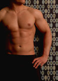 Male on retro background. Male on a retro background Royalty Free Stock Photography