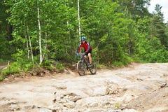 Male riding a mountain bike Stock Photos