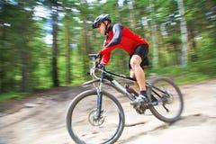 Male riding a mountain bike Royalty Free Stock Photo