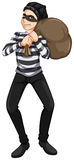 A male robber. Illustration of a male robber on a white background Stock Photo