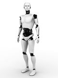 Male robotstanding. royaltyfri illustrationer