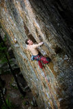 Male Rock Climber stock photography