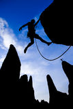 Male rock climber. Stock Image