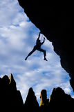 Male rock climber. Stock Photo