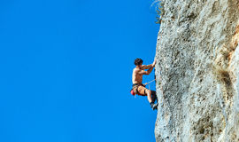Male rock climber Royalty Free Stock Images