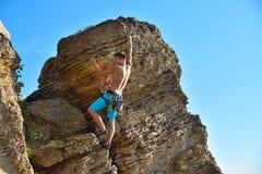 Male rock climber Royalty Free Stock Photo