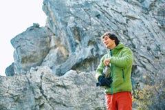 Male rock climber Stock Photos