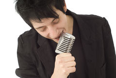 Male rock singer Stock Photography