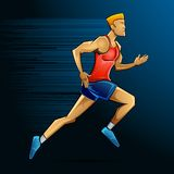 Male Runner. Illustration of male runner running in speed Royalty Free Stock Images