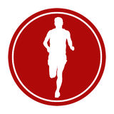 Male runner athlete running. Sports sign icon male runner athlete running Royalty Free Stock Photo