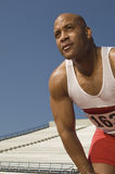 Male Runner In Athletic Field Stock Image
