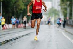 male runner leader stock photos