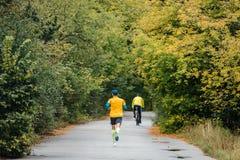 Male runner leader of marathon race running Royalty Free Stock Photos