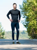 Male Runner in nature after jogging. Portrait Of Male Runner in nature after jogging Stock Photography