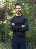 Male Runner in nature after jogging Stock Photography