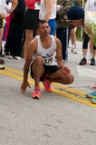 Male Runner Before Race Royalty Free Stock Photography