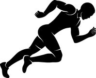 Male Runner Silhouette Stock Photo