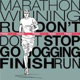 Male runner sketch illustration Stock Photos