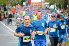 Male Runners During 2017 Vancouver Sun Run. Male runners during the 2017 Sun Run competition in Vancouver, B.C. on April 23, 2017 Stock Photo