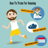 Male running and training for Runner Royalty Free Stock Photo