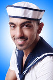 Male sailor. In studio shooting Royalty Free Stock Images