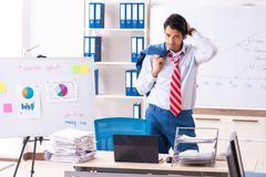 The male sales analyst in front of the whiteboard. Male sales analyst in front of the whiteboard stock images