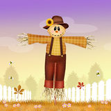 Male scarecrow. Funny illustration of male scarecrow Stock Images