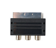 Male SCART AV adaptor isolated Stock Photos