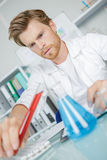 Male scientist doing research Royalty Free Stock Image