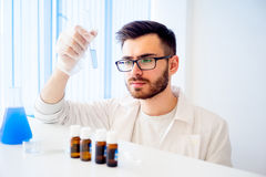 Male scientist in a laboratory Stock Photos