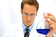 Male Scientist working in a Lab Stock Photos