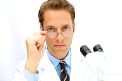 Male Scientist working in a Lab Stock Photography