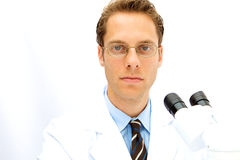 Male Scientist working in a Lab Royalty Free Stock Images