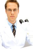 Male Scientist working in a Lab Royalty Free Stock Photography
