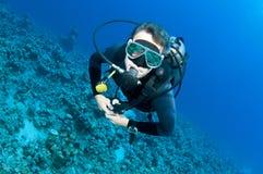 Male scuba diver Royalty Free Stock Photos
