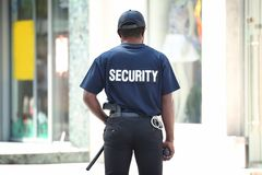Male security guard outdoors. Male security guard out doors Stock Image