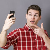 Male selfie for relaxed young sportsman Stock Image