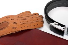 Male set. Men`s Accessories. The real man`s set.  stock photography