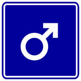 male sex gender symbol vector sign Stock Images