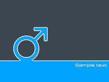 Male sex symbol background Stock Photo